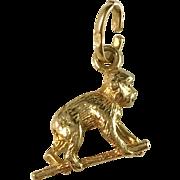18k Gold Italy Arezzo Vintage Monkey Charm