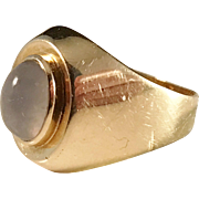 18k Gold Moonstone ring. Johan Pettersson, Stockholm 1955, Mid Century.