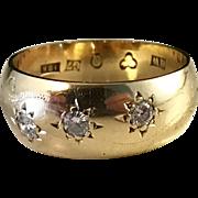 Antique Year 1909 Diamond 18k Gold Ring. Henrik Westman, Örnsköldsvik, Sweden. Wow.