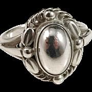 Georg Jensen Sterling Silver Ring # 1A Moonlight Blossom.