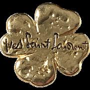 Vintage Yves Saint Laurent,  France, Gold-Plated Pendant Brooch.