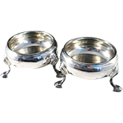 Sheffield, England year 1907 Sterling Silver Open Salts, maker HW