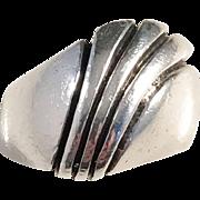 Renowned Hans Hansen, Denmark Sterling Silver Ring. Modernist 1960s