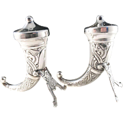 Magnus Aase, Bergen Norway Sterling Silver Salt Pepper Shakers. Viking  Mid Century.