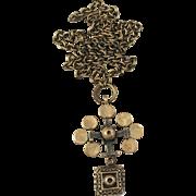 Pentti Sarpaneva, Finland (1925-1978) Bronze Modernist Pendant Necklace. 1960s. Marked. Rare Design.
