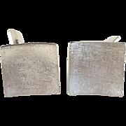 Year 1970 G Dahlgren Large Modernist Solid Silver Cufflinks.