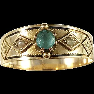 Victorian 18k Gold Ring. Anders G Björkman, Stockholm year 1894.