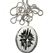 Sten & Laine, Finland 1974 Modernist Brutalist Pendant Necklace.