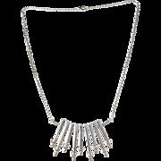 Sterling Silver Modernist Necklace. Swedish Import 1970s, Maker's Mark.
