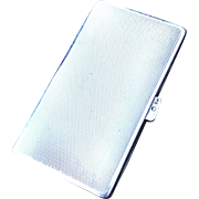 Royal Silversmith CG Hallberg, Sweden year 1927 Art Deco Sterling Silver Cigarette Case