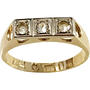 Bernhard Hertz, Stockholm 1940s 18k Gold Paste Stone Ring. US size 5 1/4