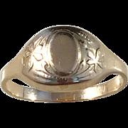 Rare Russian (Soviet) Mid Century 14k Gold Ring. Size 7 1/4