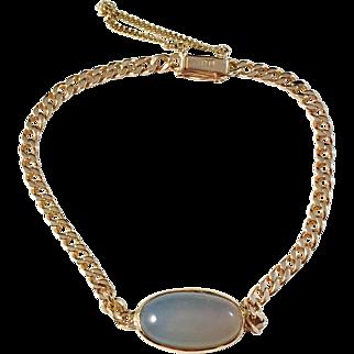 18k Gold Moonstone Mid Century, Sweden Bracelet. Excellent.