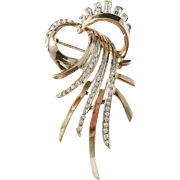 Laparra and Gabriel, Paris 1902-1923 French early Art Deco Sterling Silver Paste Stone Brooch