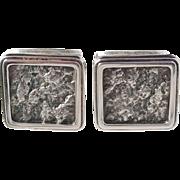 Ceson, Sweden year 1971 Solid Silver Modernist Cufflinks