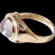 Wiktorsson, Sweden year 1957 Mid Century 18k Amethyst Ring.