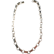 Much Sought After CLAES GIERTTA, Stockholm, 1969 Sterling Silver Necklace. Signed. 3.3oz