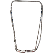 Hedens Brothers, Sweden year 1974 Solid Silver 50 inch Long Necklace