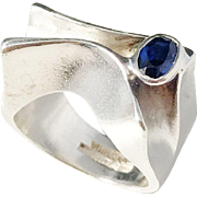 Sougth After Lapponia, Finland Year 1980 Sterling Silver Ring.