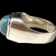 Lindahls, Sweden year 1960. Signed Sterling Silver Modernist Ring.