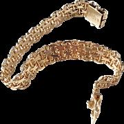 Hedens Brothers, Sweden year 1966, 18k Gold X-link Bracelet. 19.4gram. Excellent