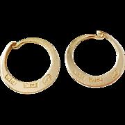 Erik Rengman, Sweden year 1820-36, Georgian Extremely rare 18k Gold Small Earrings.