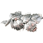 Pinco, Stockholm year 1956 Mid Century Solid Silver Brooch