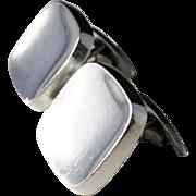 Oversized 1.2oz BENT K Denmark Sterling Silver Cufflinks. Design no 10, c 1960.