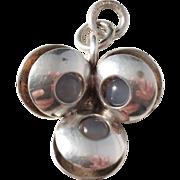 Elis Kauppi, Finland Vintage Modernist Small Sterling Silver Moonstone Pendant