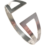 Stridh & Omelius Sweden year 1958 Mid Century Modern Solid Silver Bangle
