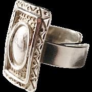 Yngvar O Kristiansen, Norway Vintage Viking Design Unisex Sterling Silver Ring.