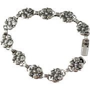 Rolf Kaplan, Stockholm year 1953, Mid Century Solid Silver Bracelet.