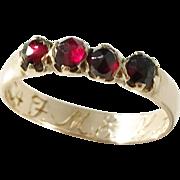 Andreas Hallberg, Sweden year 1833, Regency 18k Gold Garnet Ring.