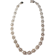 Hugo Grün & Co, Finland year 1936 Solid Silver Necklace.