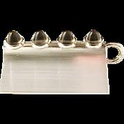 Elis Kauppi, Kupittaan Kulta Finland Vintage Modernist Solid Silver Smoky Quartz Pendant. Excellent.