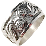 Bengt Lilja, Finland year 1971 Solid Silver Organic Flower Ring
