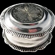 Hans Liedberg, Sweden 1809-22 Georgian Solid Silver Pill Box. Rare.