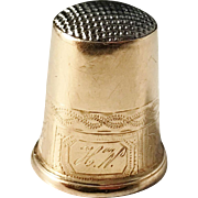 Christian Hammer, Stockholm year 1860 early Victorian 18k Gold Thimble.