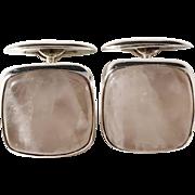 Osvald Matto, Finland year 1959 Solid Silver Quartz Mid Century Cufflinks