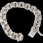 Bergman, Sweden year 1973 Solid Silver Bracelet.