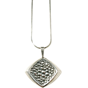 Erik Granit, Finland year 1962 Solid Silver Pendant Necklace.