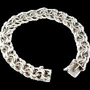 Swedish Import, maker FBM, 1960s Solid Silver Bracelet.