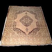 "1920's Persian Tabriz rug 4'0"" x 5'0"" Free shipping & appraisal"