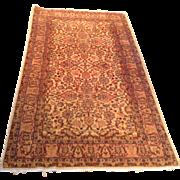 "1960's Turkish Sivas rug 3'8"" x 6'7"" Free shipping & appraisal"