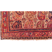 "Unusual Antique, ca. 1910, Persian Malayer Oriental Rug, Boteh-Paisley Design 5'4"" x 12' Free shipping & appraisal"