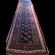 "FABULOUS!!! Antique ca. 1890, N.W. Persian Bijar Oriental Rug Runner-  3'7"" x 18',  appraisal & free shipping"