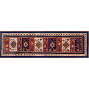 19th century Kazak Russian Rug Wool Runner Size 3'10 X 8'7 feet