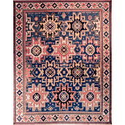 Shirvan Rug made with wool and silk 6'11X7'11