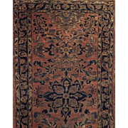 "Antique runner Sarouk 2'7""X10' 5"" Circa 1900"