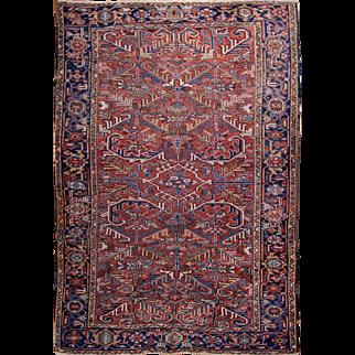 Heriz large rug made in Persia 6'7x10'4 feet